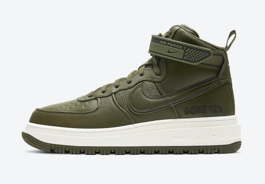 エアフォースワン ゴアテックス ブーツ Nike-Air-Force-1-Gore-Tex-Boot-Medium-Olive-CT2815-201-side