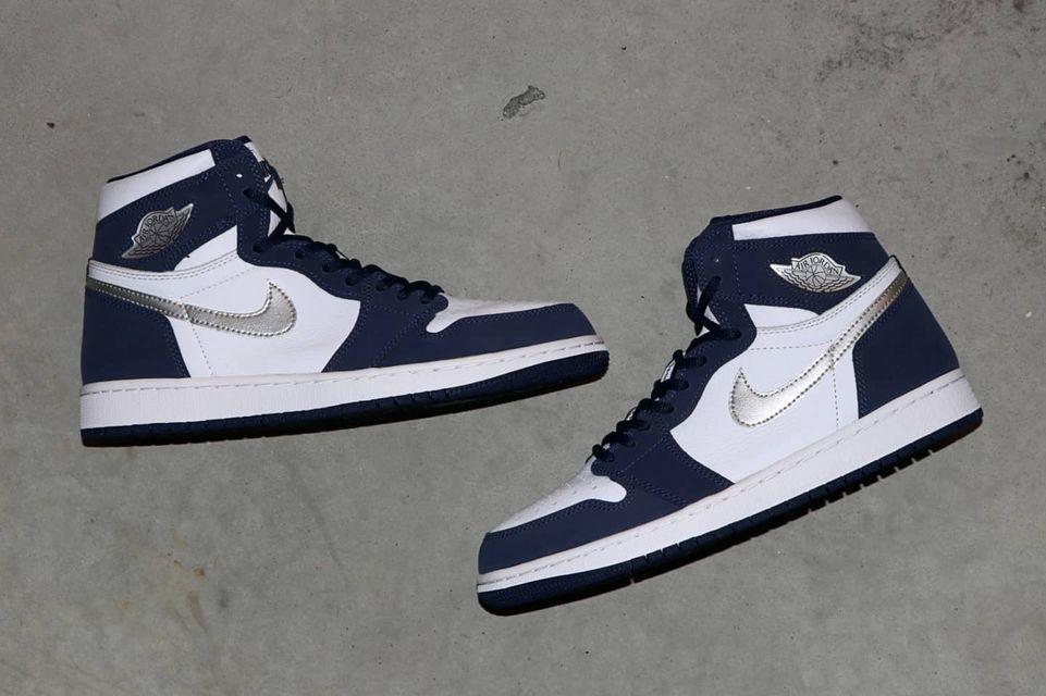 ナイキ エア ジョーダン 1 ジャパン 日本企画 ミッドナイト ネイビー Nike Air Jordan 1 CO.JP Midnight Navy 575441-141 yamaotoko side