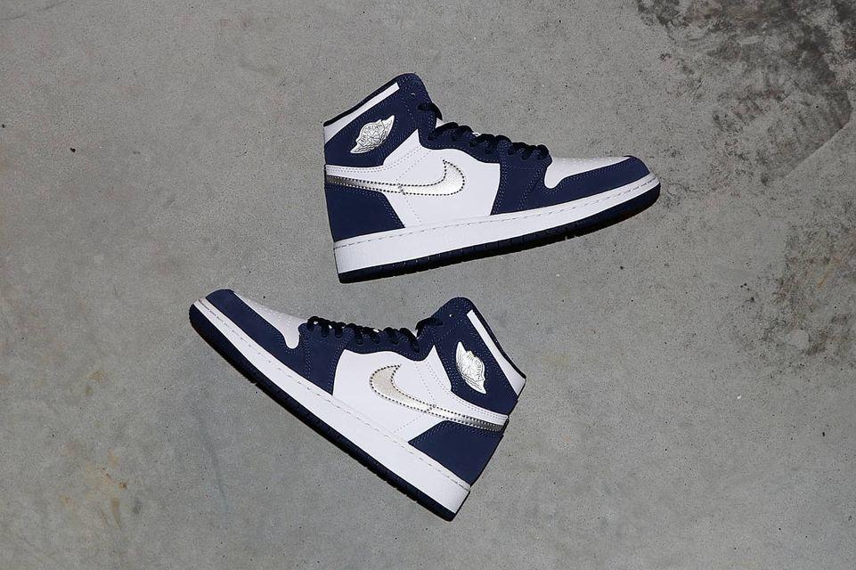 ナイキ エア ジョーダン 1 ジャパン 日本企画 ミッドナイト ネイビー Nike Air Jordan 1 CO.JP Midnight Navy 575441-141 yamaotoko side main