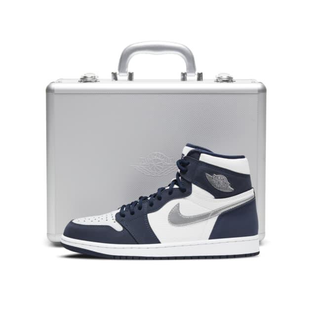Nike Air Jordan 1 CO.JP Midnight Navy DB5877-100 DC1788-100 SNKRS ナイキ エア ジョーダン 1 日本企画 ジャパン 限定 ミッドナイト ネイビー ジュラルミンケース セット