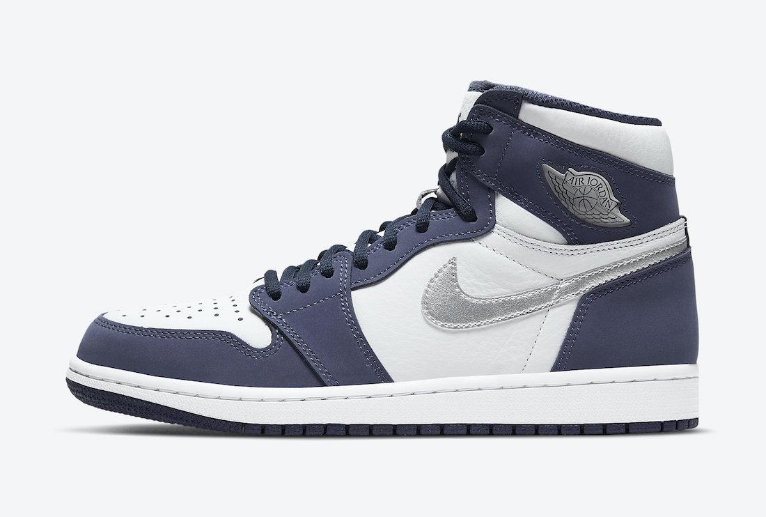 ナイキ エア ジョーダン ミッドナイト ネイビー ジャパン 企画 日本 限定 Nike Air Jordan 1 CO.JP Midnight Navy DC1788-100 closer look side swoosh