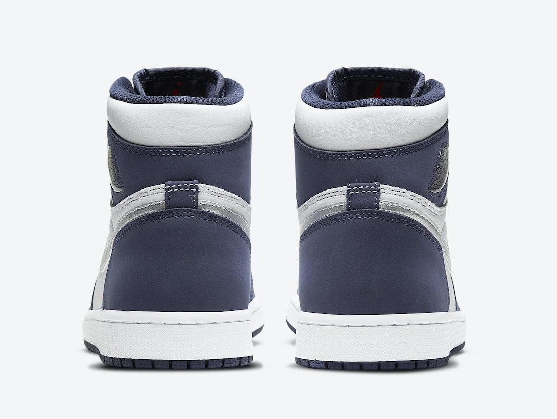 ナイキ エア ジョーダン ミッドナイト ネイビー ジャパン 企画 日本 限定 Nike Air Jordan 1 CO.JP Midnight Navy DC1788-100 closer look heel back