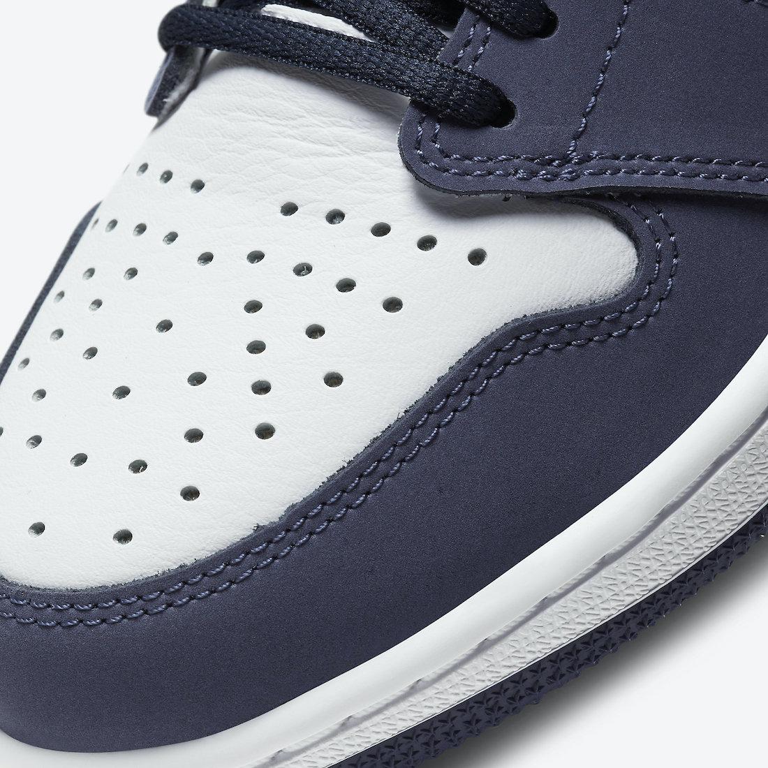 ナイキ エア ジョーダン ミッドナイト ネイビー ジャパン 企画 日本 限定 Nike Air Jordan 1 CO.JP Midnight Navy DC1788-100 closer look toe