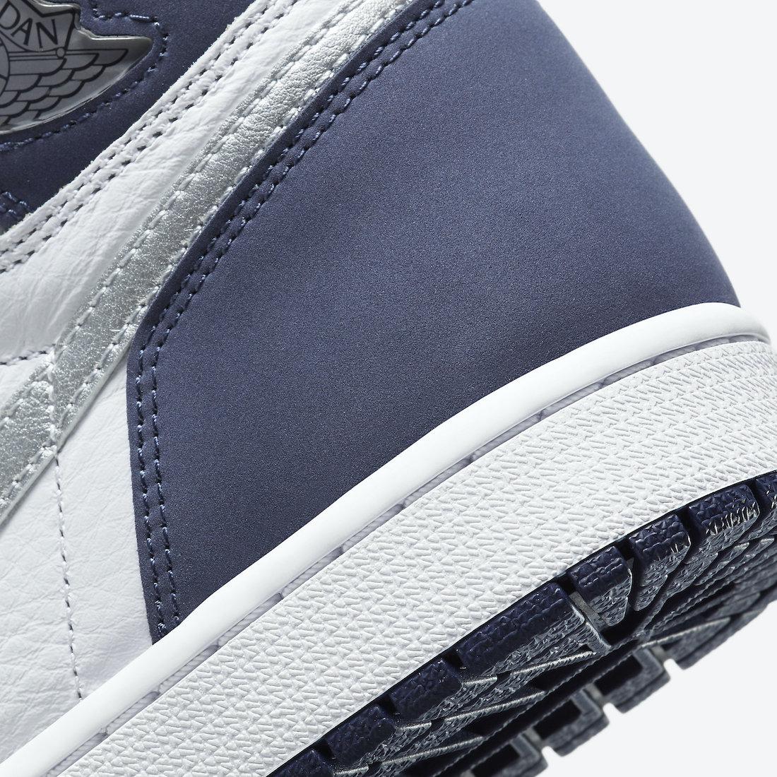 ナイキ エア ジョーダン ミッドナイト ネイビー ジャパン 企画 日本 限定 Nike Air Jordan 1 CO.JP Midnight Navy DC1788-100 closer look heel