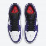 ナイキ エア ジョーダン 1 ロー コート パープル Nike Air Jordan 1 Low Court Purple 553558-500 above
