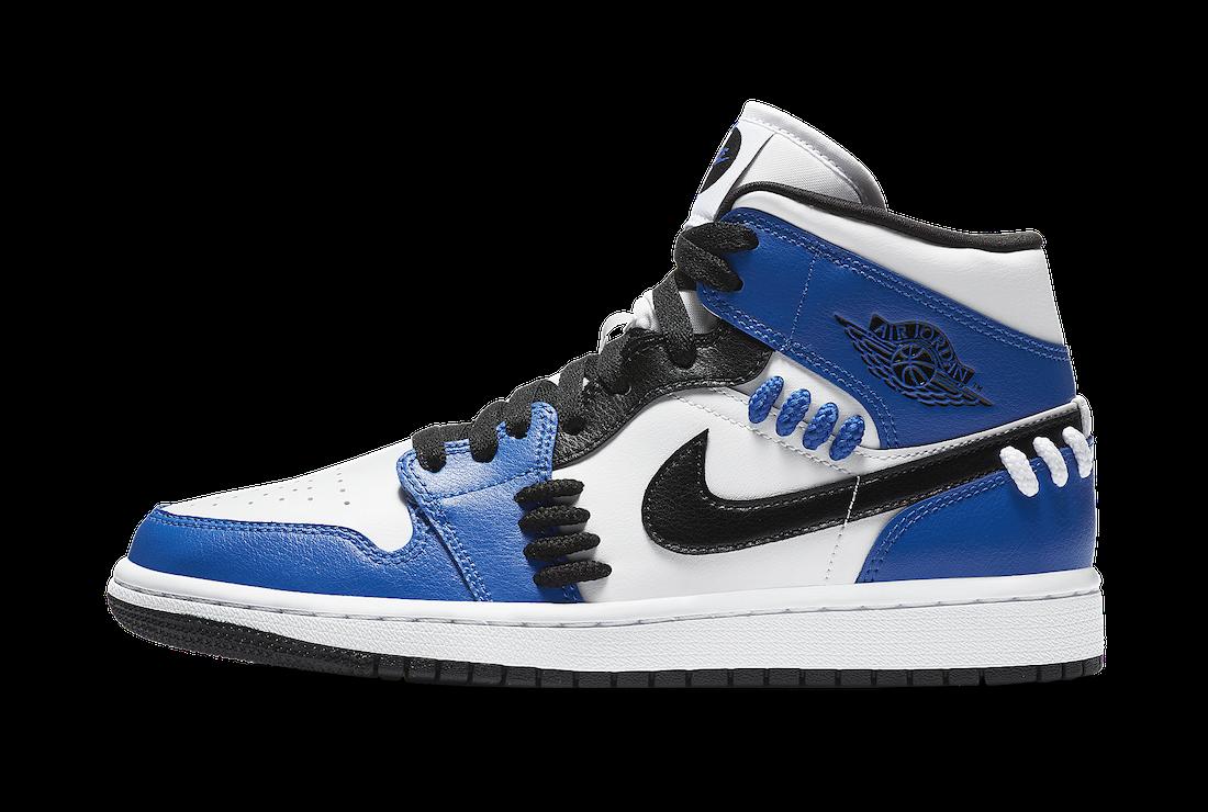 ナイキ エア ジョーダン 1 ミッド シスターフッド ゲーム ロイヤル Nike Air Jordan 1 Mid SE Sisterhood Game Royal CV0152-401 side swoosh