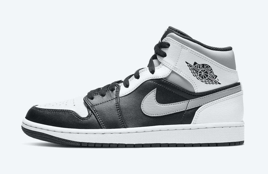ナイキ エアジョーダン 1 ミッド ホワイト シャドウ Nike Air Jordan 1 Mid White Shadow 554724-073 side swoosh