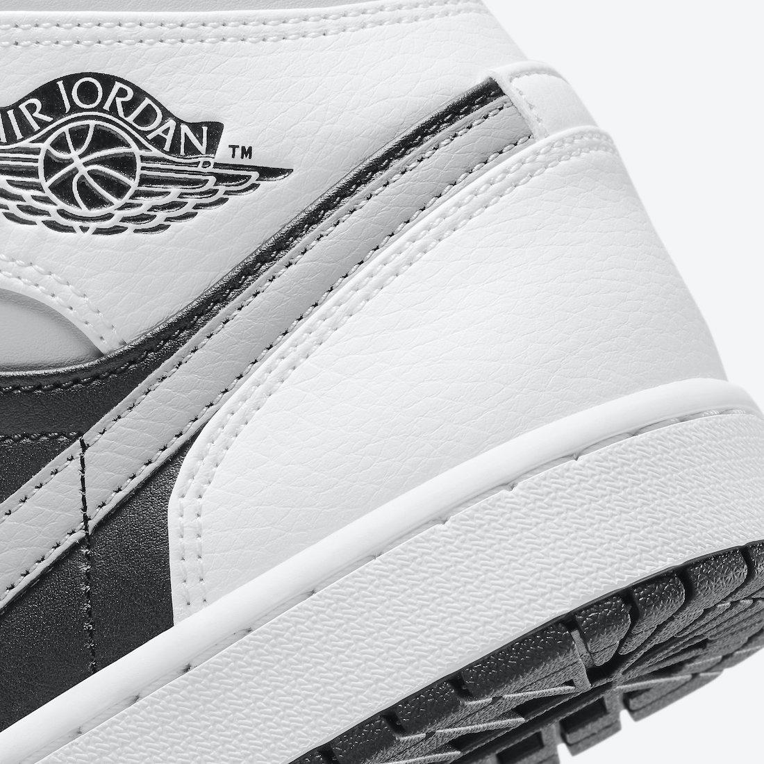 ナイキ エアジョーダン 1 ミッド ホワイト シャドウ Nike Air Jordan 1 Mid White Shadow 554724-073 close heel