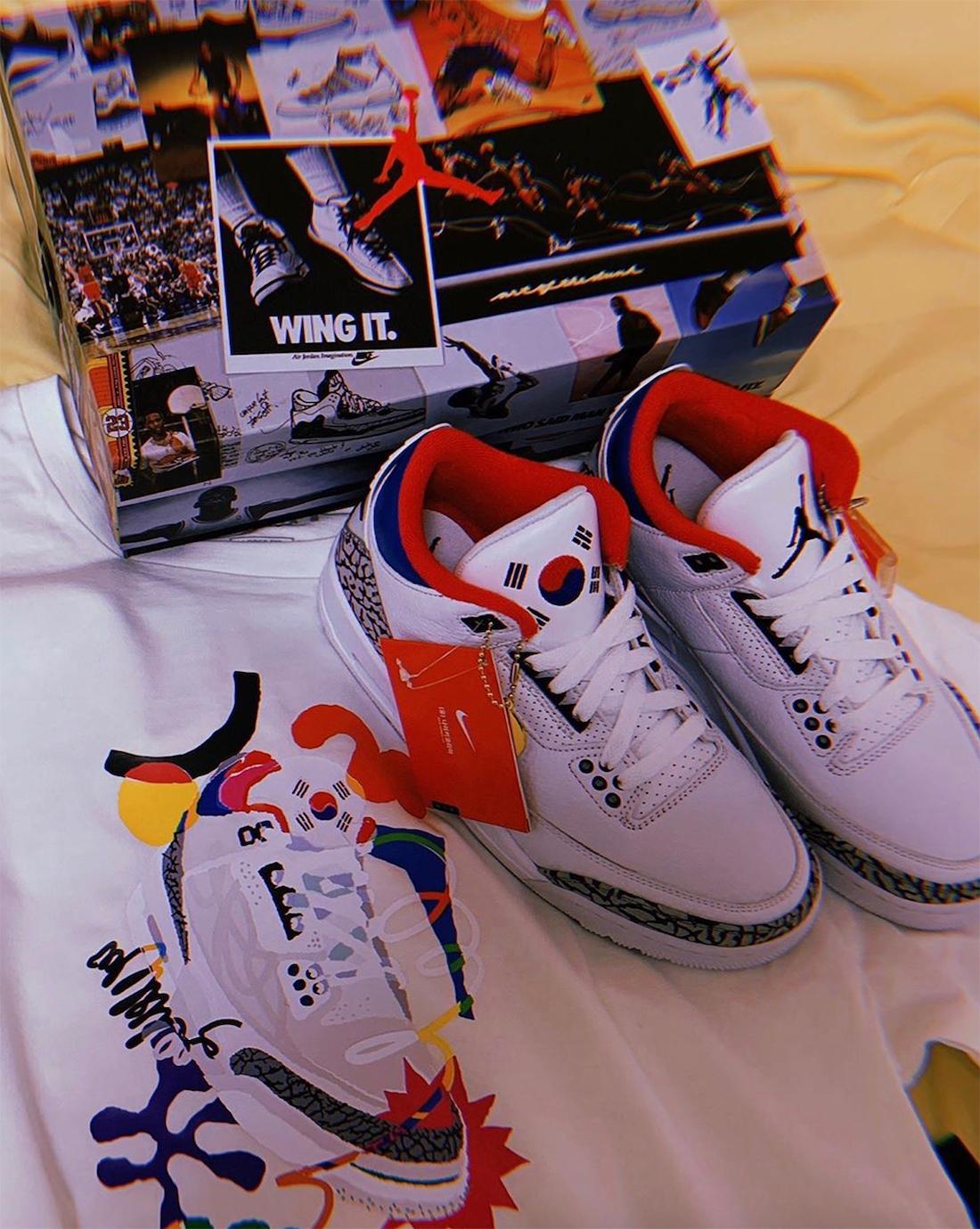 Nike Air Jordan 3 Seoul Korea WMNS AV8370-100 ナイキ エア ジョーダン 3 コリア ソウル apparel