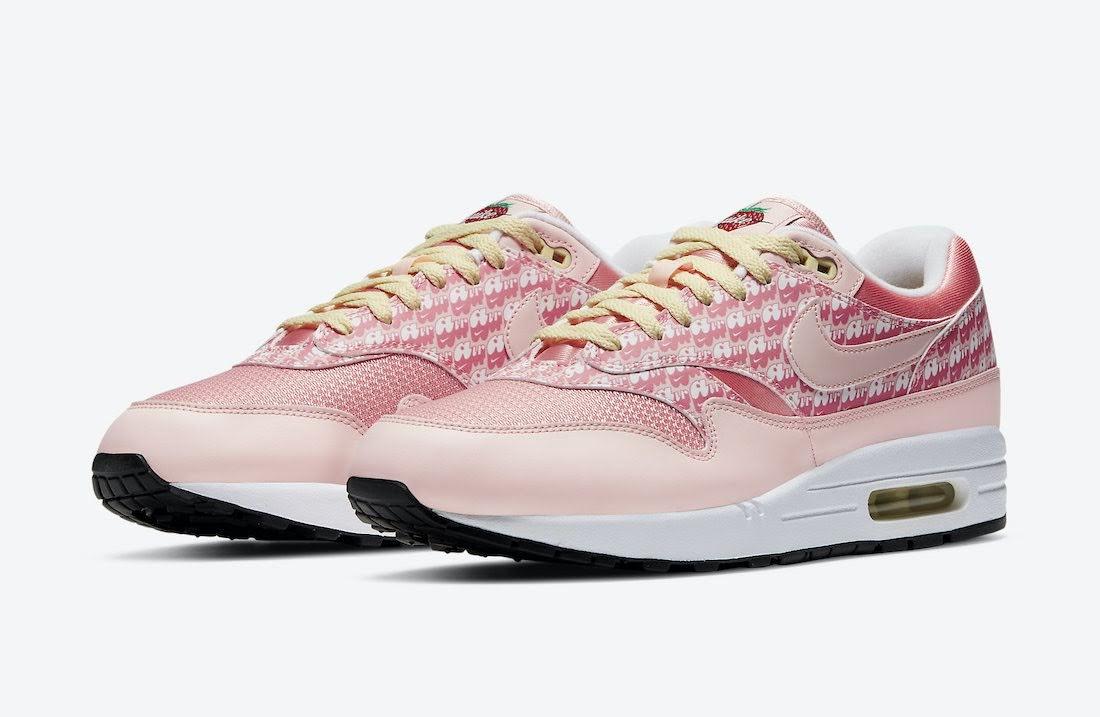 """ナイキ エア マックス 1 """"ストロベリーレモネード""""Nike-Air-Max-1-Strawberry-Lemonade-CJ0609-600-pair"""