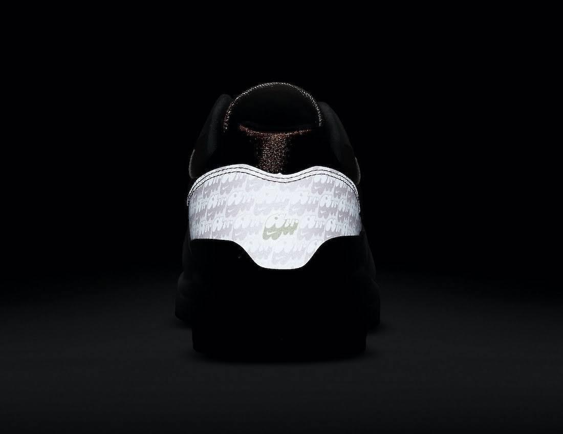 """ナイキ エア マックス 1 """"ストロベリーレモネード""""Nike-Air-Max-1-Strawberry-Lemonade-CJ0609-600-heel-glow"""