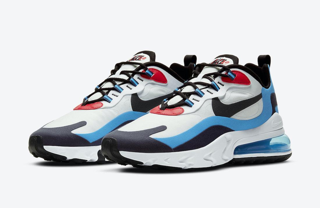 ナイキ シューメーカー パック Nike-Air-Max-270-React-White-Photo-Blue-University-Red-DA2400-100-pair