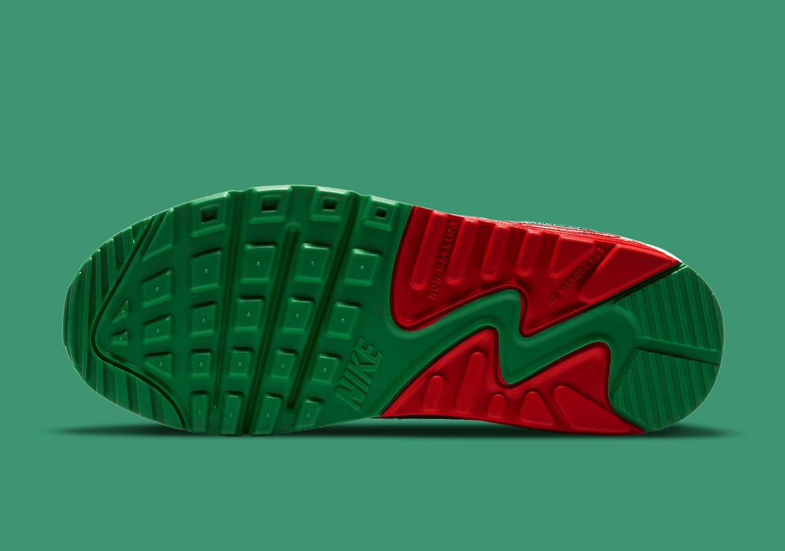 Nike Air Max 90 GS Christmas 2020 DC1621-100 ナイキ エアマックス 90 クリスマス 2020年 sole