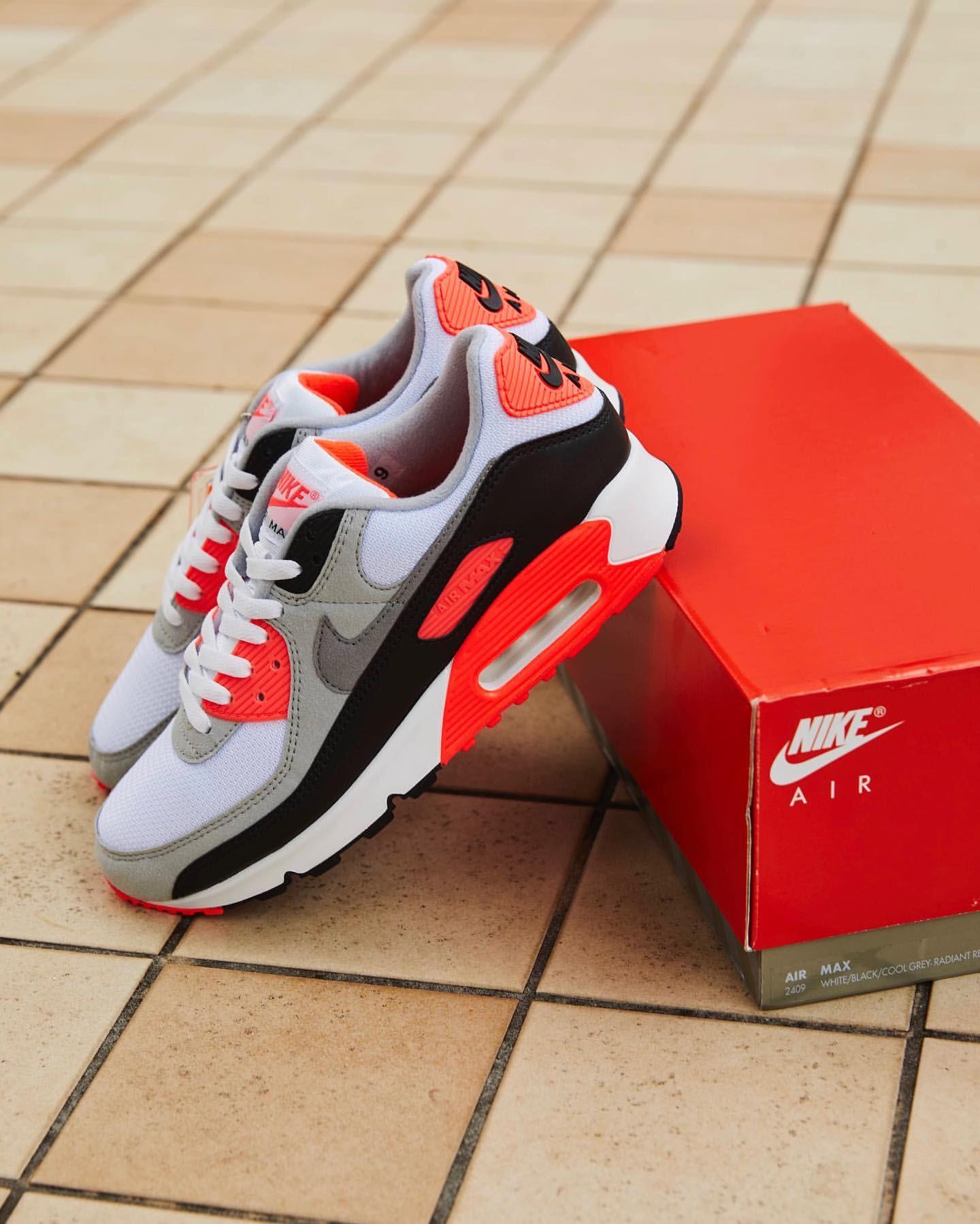 ナイキ エア マックス 90 インフラレッド Nike Air Max 90 Infrared CT1685-100 atmos side box