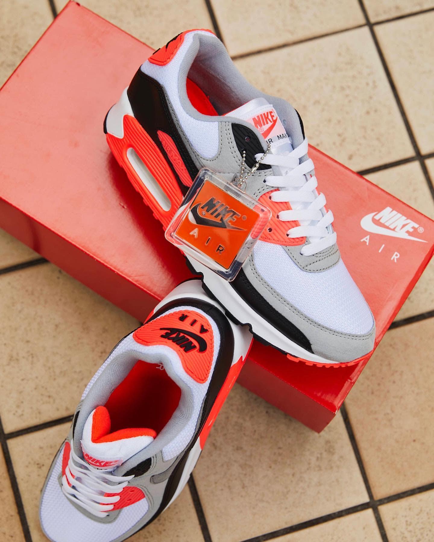 ナイキ エア マックス 90 インフラレッド Nike Air Max 90 Infrared CT1685-100 atmos shoes box