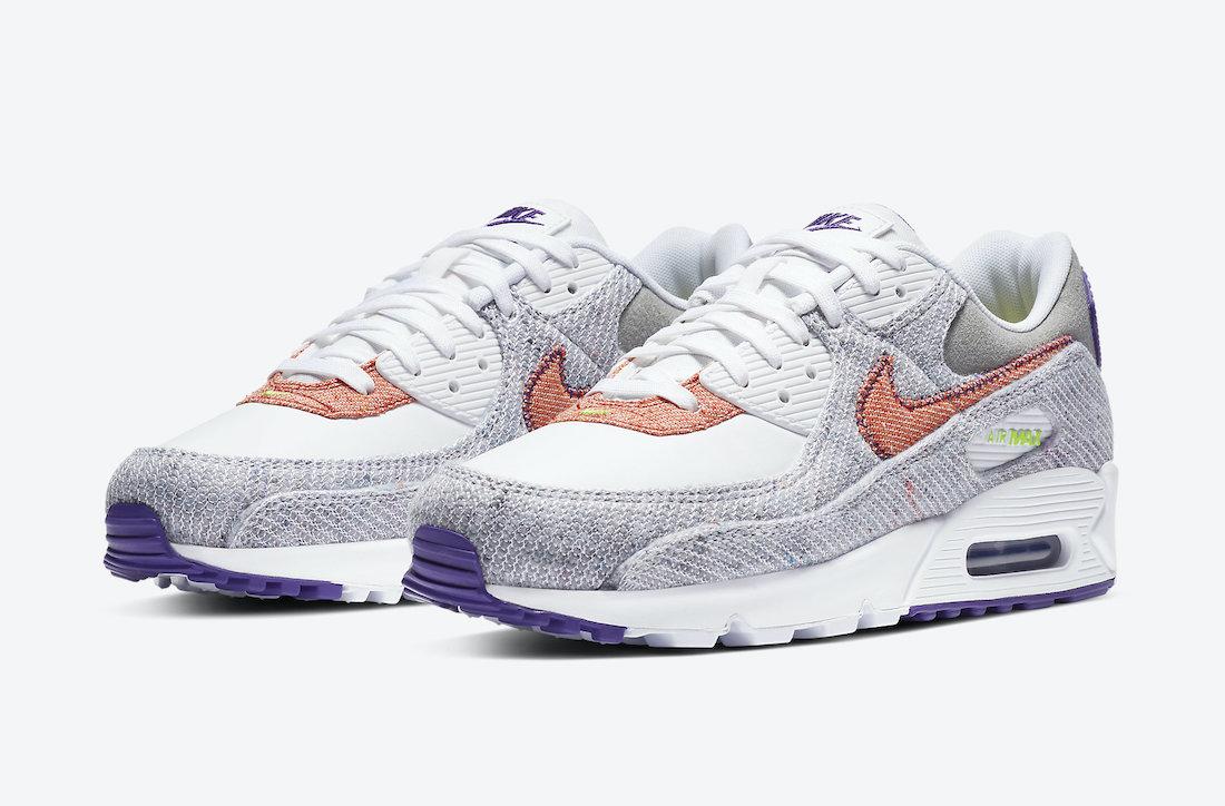 ナイキ エア マックス 90 コート パープル Nike Air Max 90 NRG White Electric Green Court Purple CT1684-100 main