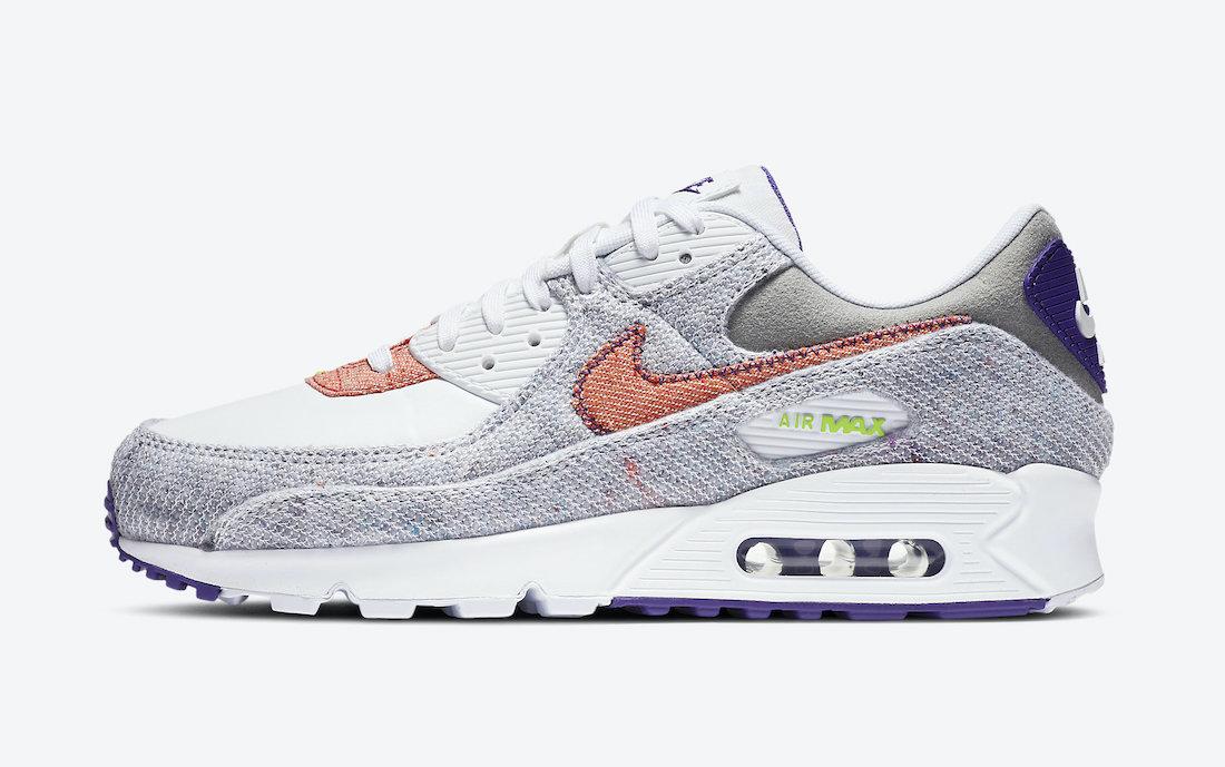 ナイキ エア マックス 90 コート パープル Nike Air Max 90 NRG White Electric Green Court Purple CT1684-100 outside