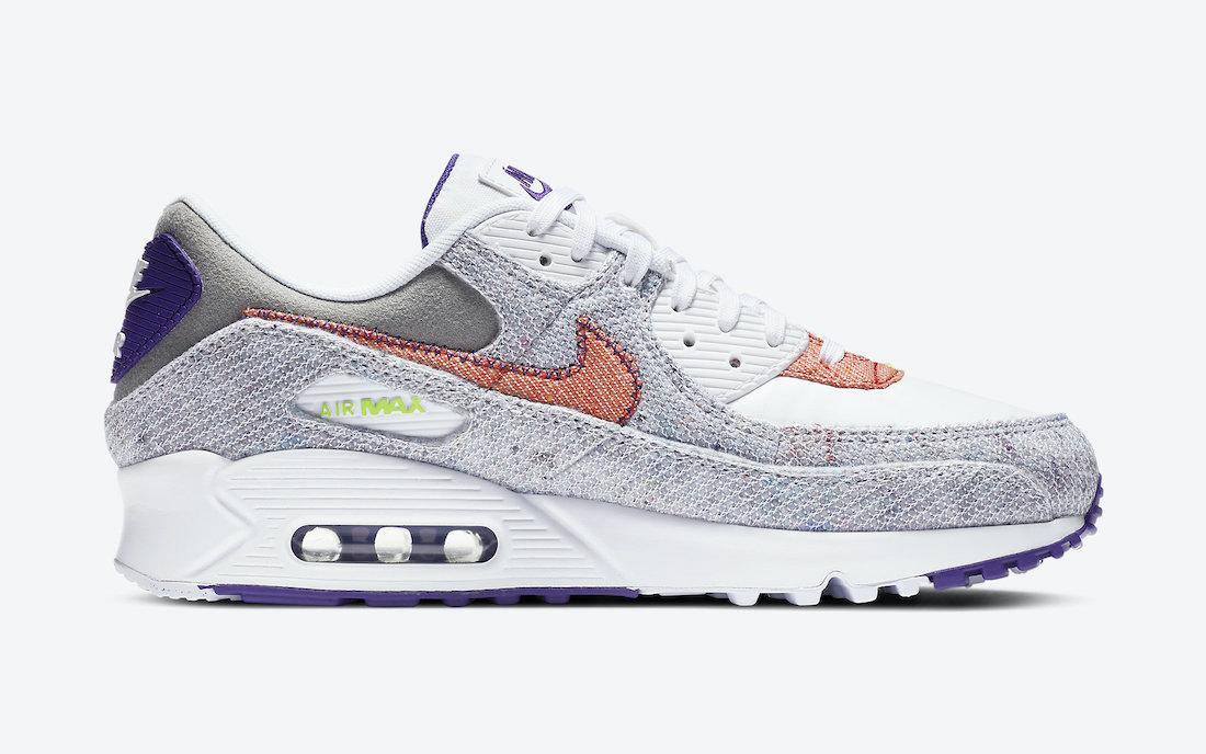 ナイキ エア マックス 90 コート パープル Nike Air Max 90 NRG White Electric Green Court Purple CT1684-100 inside