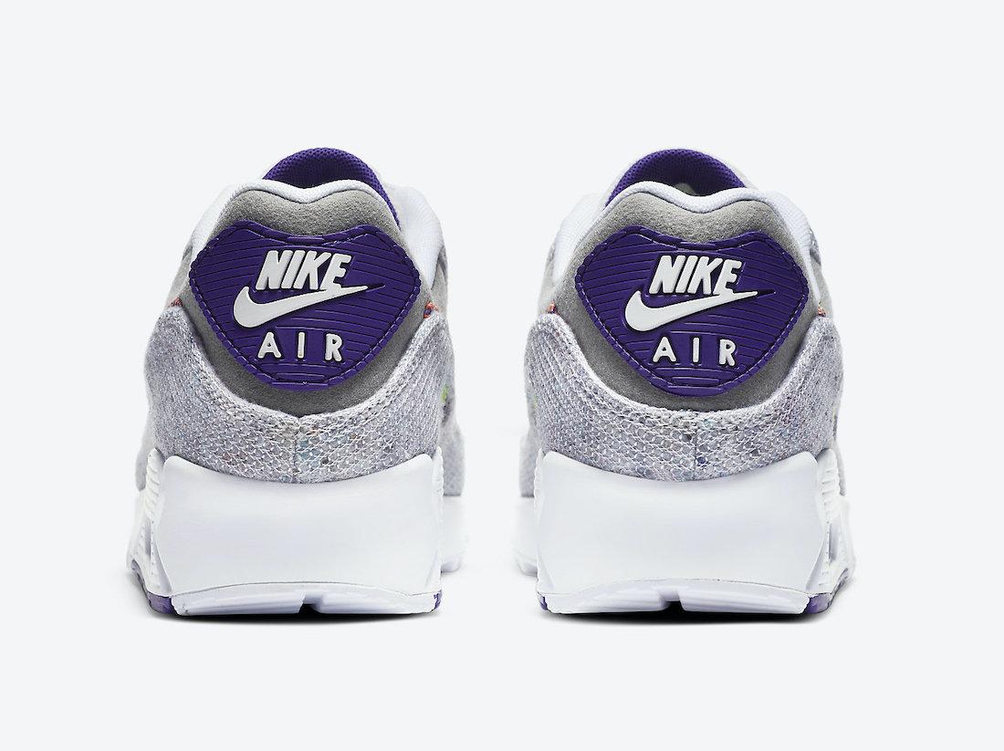 ナイキ エア マックス 90 コート パープル Nike Air Max 90 NRG White Electric Green Court Purple CT1684-100 back