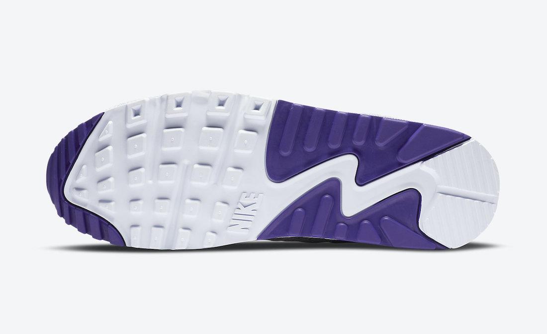ナイキ エア マックス 90 コート パープル Nike Air Max 90 NRG White Electric Green Court Purple CT1684-100 sole