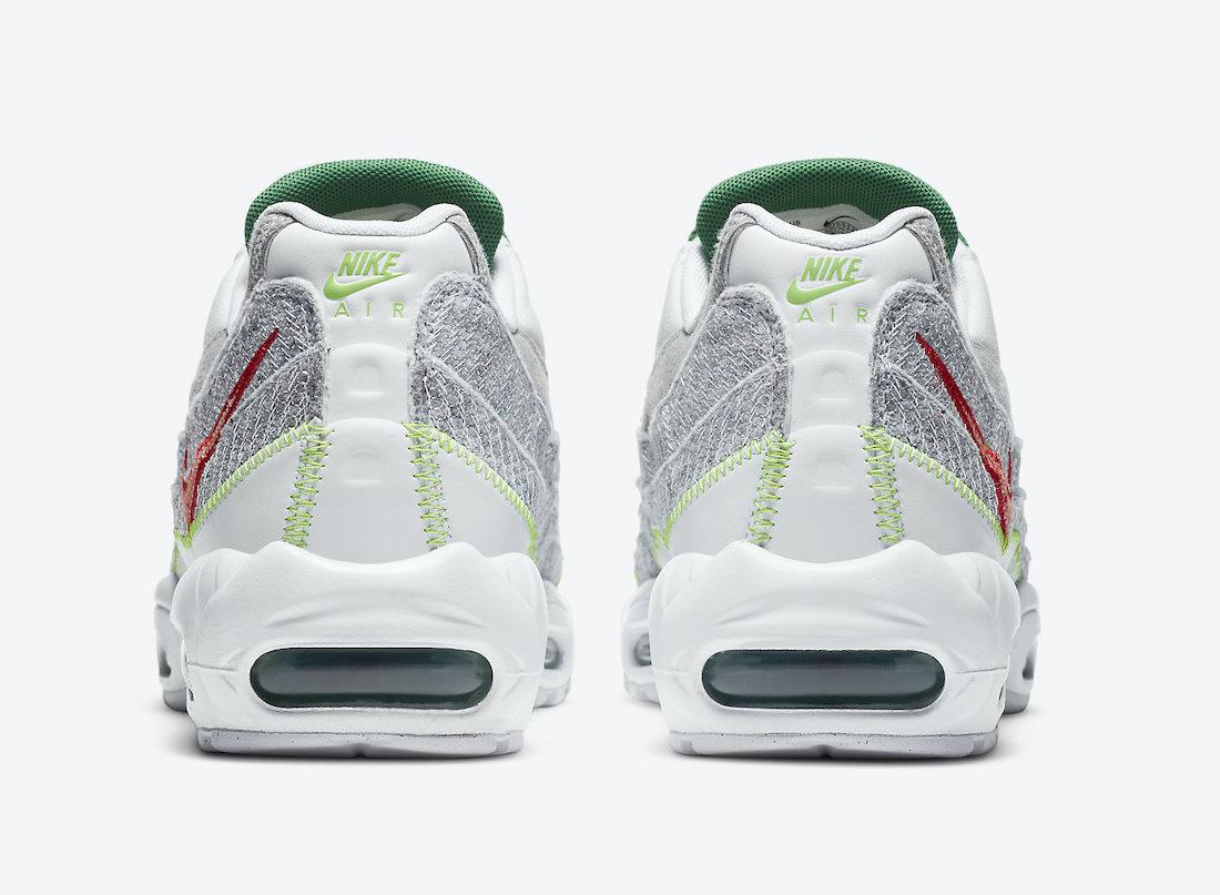 ナイキ エア マックス 95 クラシック グリーン Nike Air Max 95 NRG White Classic Green Electric Green CU5517-100 back