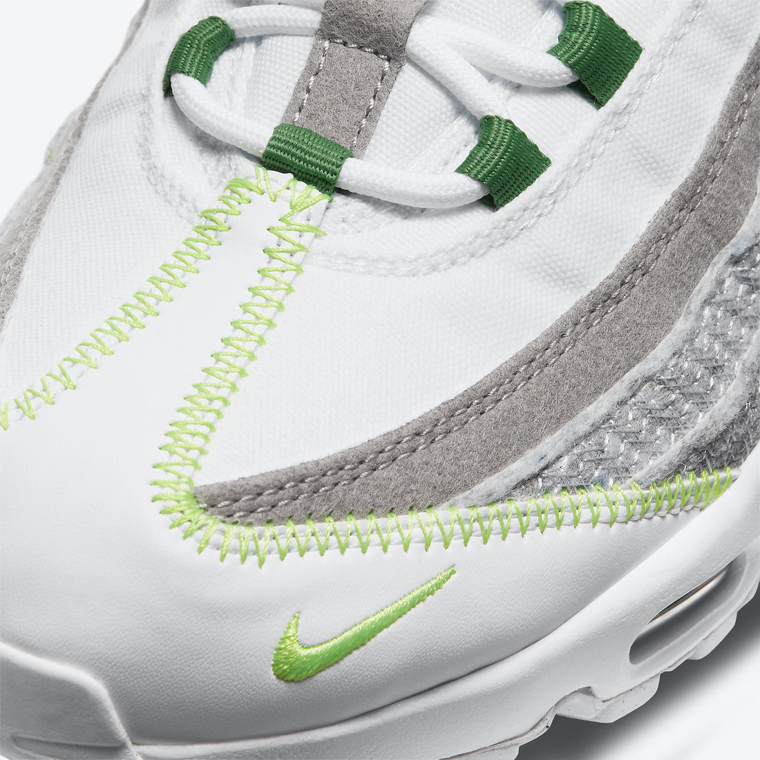 ナイキ エア マックス 95 クラシック グリーン Nike Air Max 95 NRG White Classic Green Electric Green CU5517-100 toe