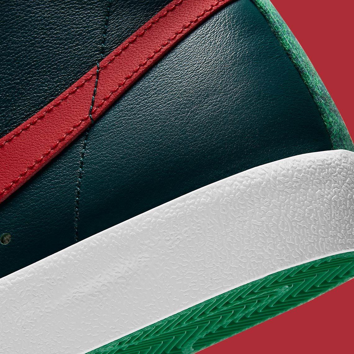 Nike Blazer Mid Christmas 2020 DC1619-300 ナイキ ブレーザー ミッド クリスマス 2020年 close heel