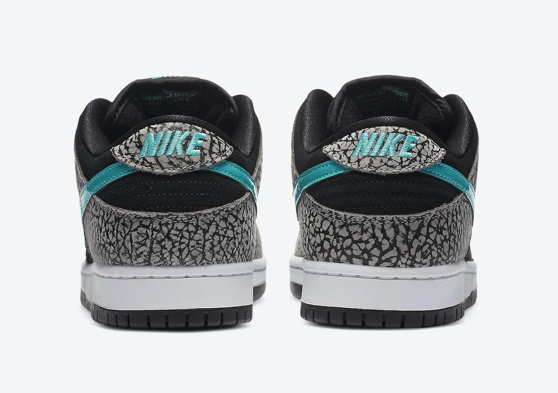 ナイキ SB ダンク ロー エレファント Nike SB Dunk Low Elephant BQ6817-009 back