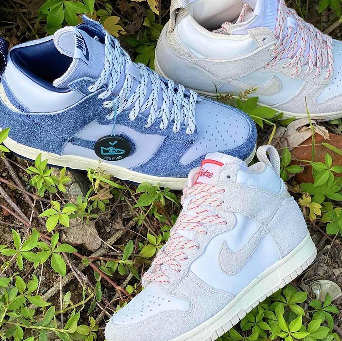 ノートル ナイキ ダンク ハイ Notre Nike Dunk High 2 colors blue light brown image