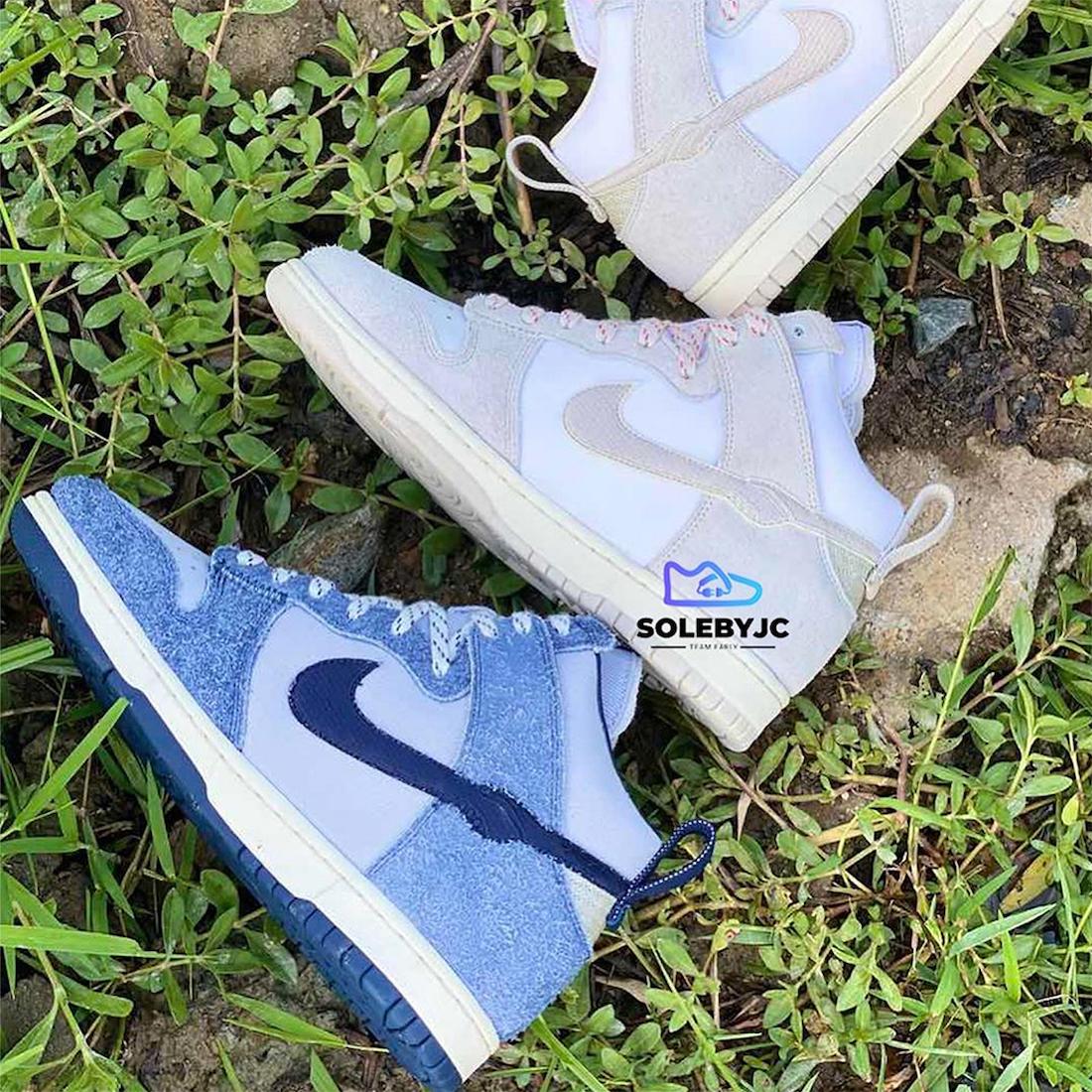 ノートル ナイキ ダンク ハイ Notre Nike Dunk High 2 colors blue light brown side swoosh