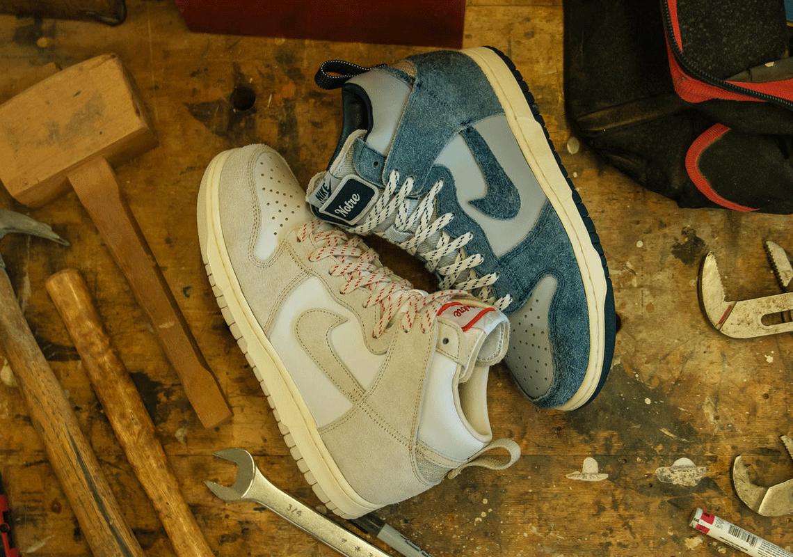 Notre x Nike Dunk High CW3092-400 CW3092-100 detail