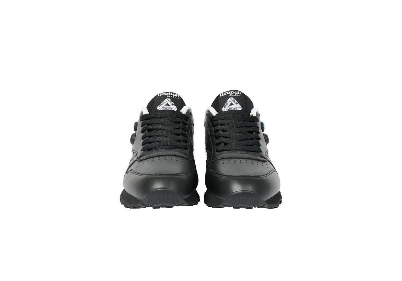 パレス スケートボード × リーボック クラシック レザー ポンプ / ブラック Palace-Winter-Reebok-pump-black-pair-front