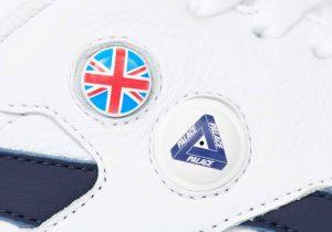 パレス スケートボード × リーボック クラシック レザー ポンプ / ホワイト Palace-Winter-Reebok-pump-white-side-logo-closeup