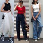 夏 スニーカー コーディネート おすすめ レディース 人気 Sneaker women summer ourfit featured image