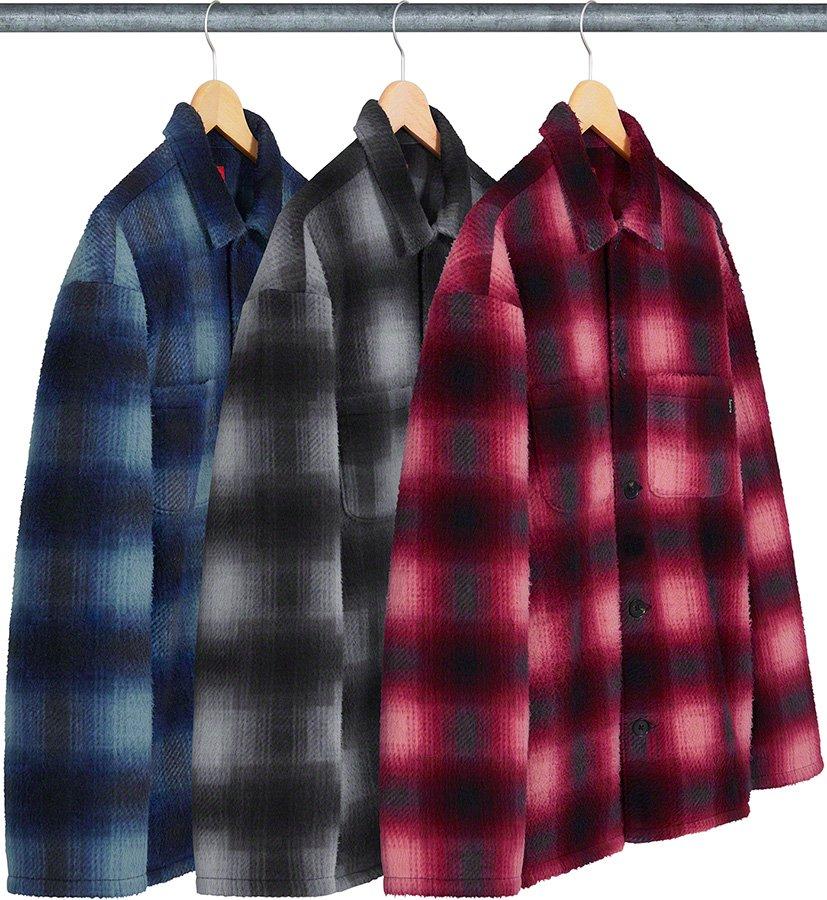 シュプリーム ザ・ノースフェイス コラボ 2020年 秋冬 新作 Supreme 2020fw week 10 Shadow Plaid Fleece Shirt 3 colors