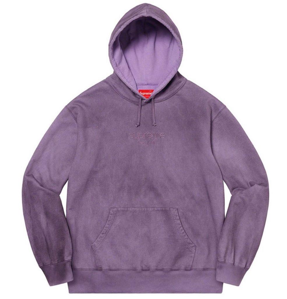 シュプリーム ザ・ノースフェイス コラボ 2020年 秋冬 新作 Supreme 2020fw week 10 Spray Hooded Sweatshirt purple