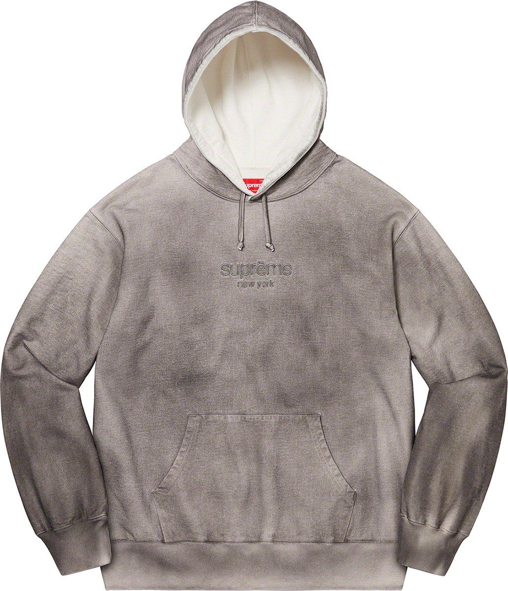 シュプリーム ザ・ノースフェイス コラボ 2020年 秋冬 新作 Supreme 2020fw week 10 Spray Hooded Sweatshirt grey