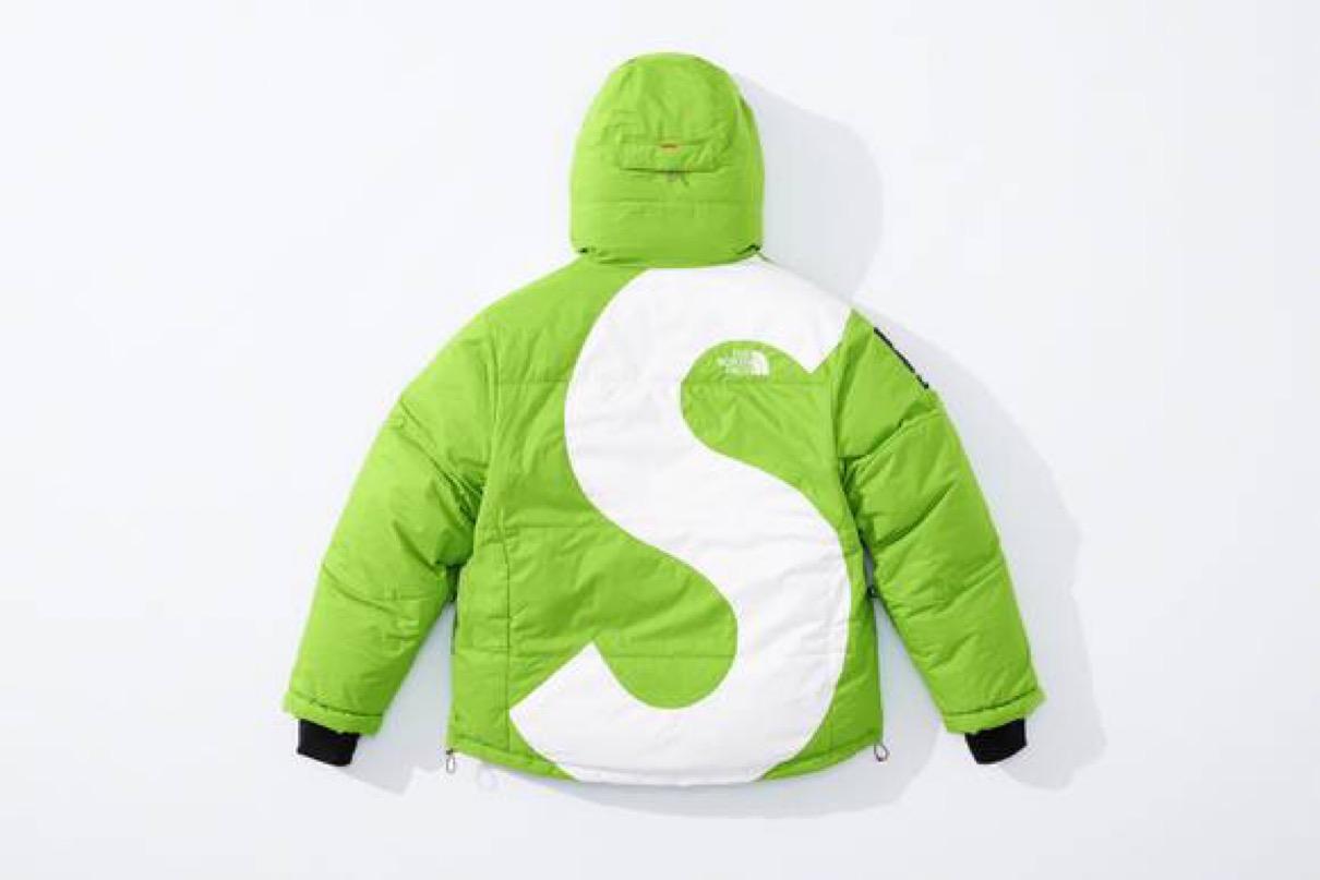 シュプリーム ザ・ノースフェイス コラボ 2020年 秋冬 新作 Supreme 2020fw week 10 The North Face S Logo Himalayan Parka green back