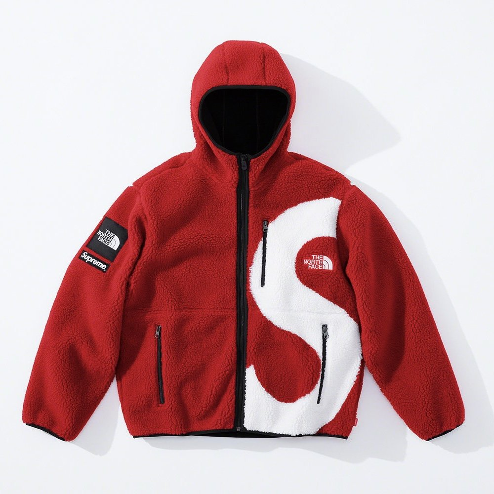 シュプリーム ザ・ノースフェイス コラボ 2020年 秋冬 新作 Supreme 2020fw week 10 The North Face S Logo Hooded Fleece Jacket red