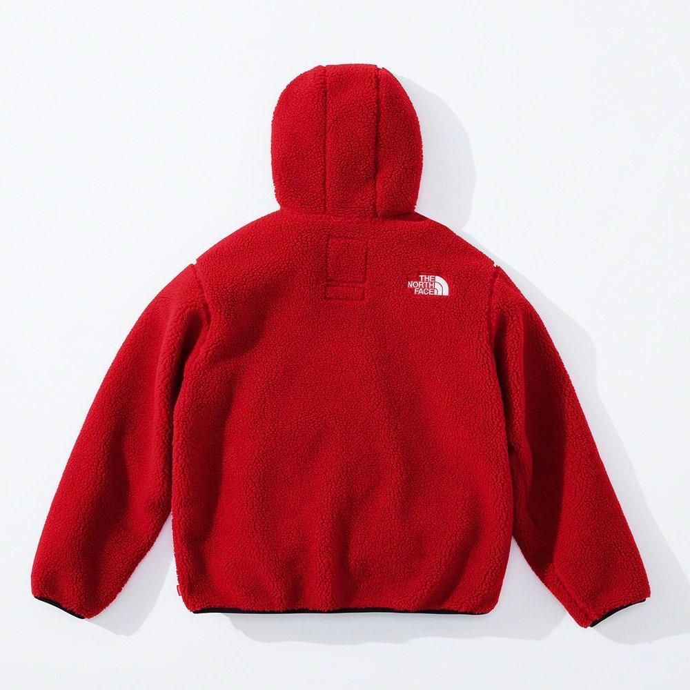 シュプリーム ザ・ノースフェイス コラボ 2020年 秋冬 新作 Supreme 2020fw week 10 The North Face S Logo Hooded Fleece Jacket red back