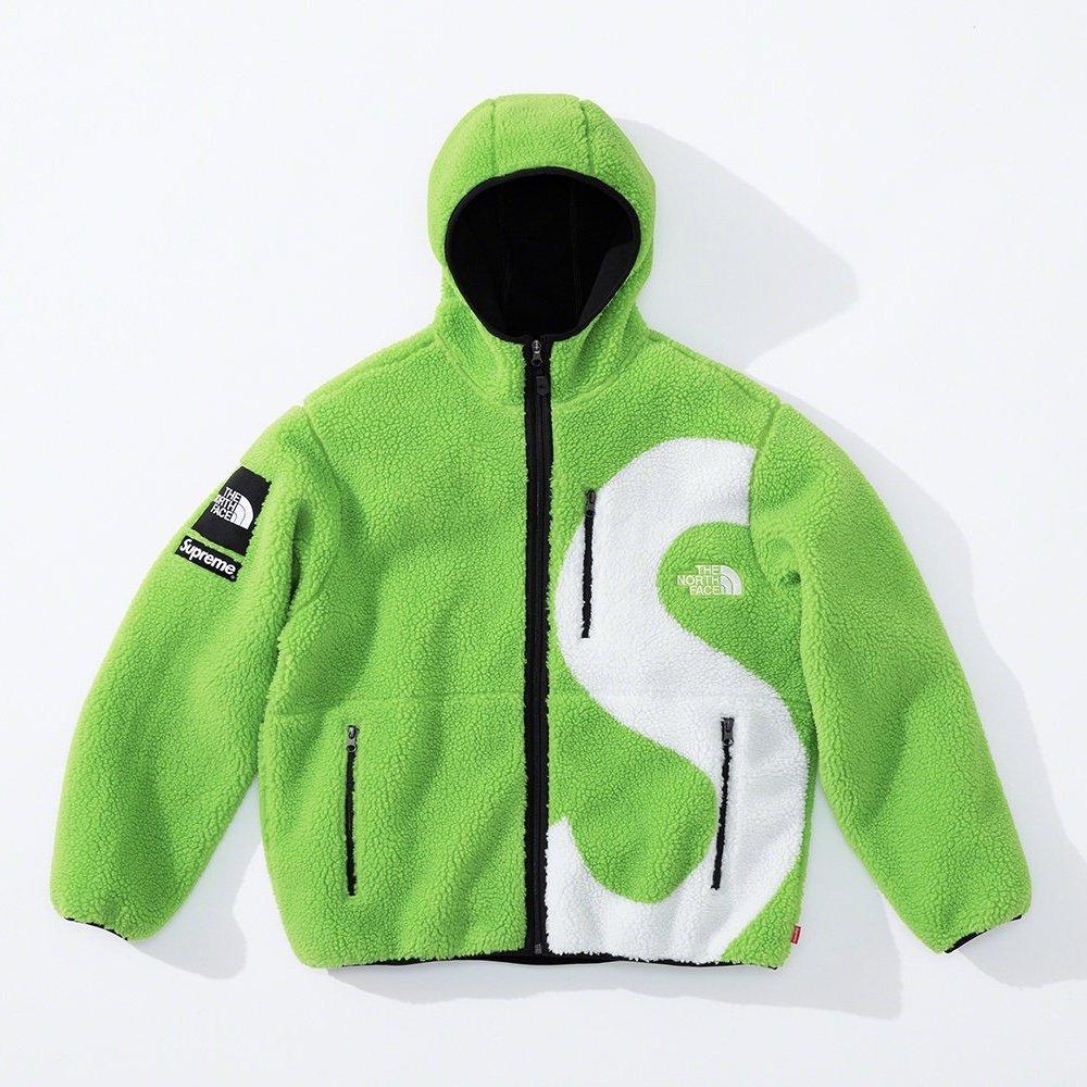 シュプリーム ザ・ノースフェイス コラボ 2020年 秋冬 新作 Supreme 2020fw week 10 The North Face S Logo Hooded Fleece Jacket green
