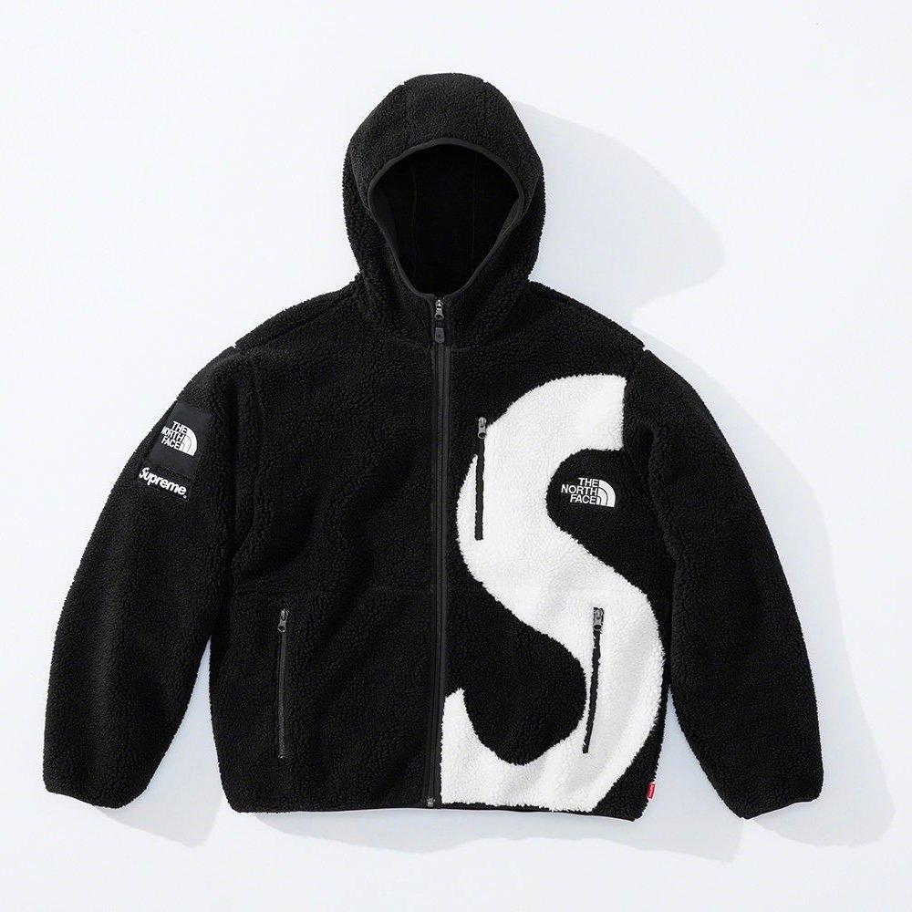 シュプリーム ザ・ノースフェイス コラボ 2020年 秋冬 新作 Supreme 2020fw week 10 The North Face S Logo Hooded Fleece Jacket black