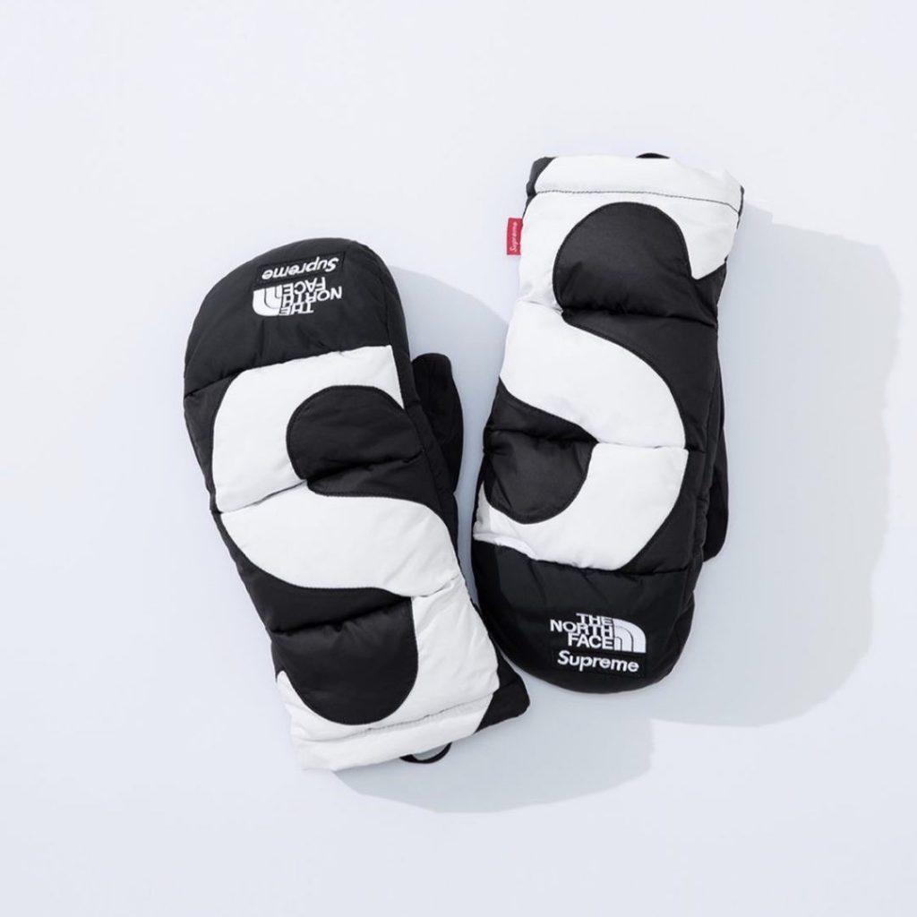 シュプリーム ザ・ノースフェイス コラボ 2020年 秋冬 新作 Supreme 2020fw week 10 The North Face S Logo Nuptse Mitts black