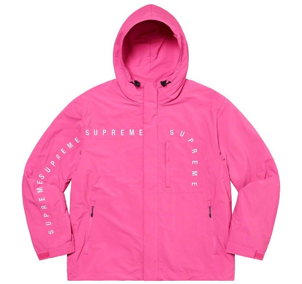 Supreme 2020fw week6 Curve Logos Ripstop Jacket シュプリーム 2020年 秋冬 カーブ ロゴ リップストップ ジャケット pink