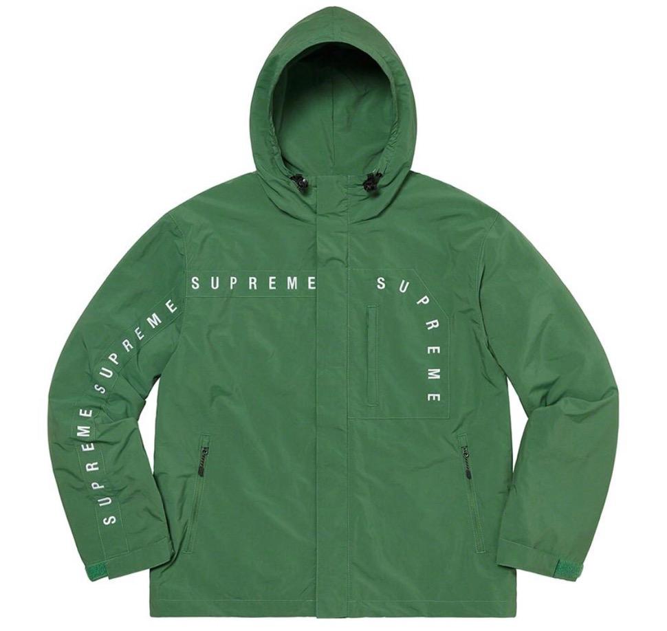 Supreme 2020fw week6 Curve Logos Ripstop Jacket シュプリーム 2020年 秋冬 カーブ ロゴ リップストップ ジャケット green