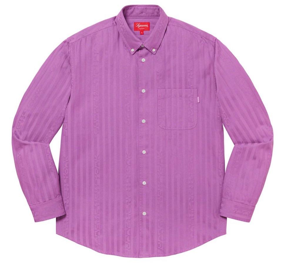 Supreme 2020fw week6 Jacquard Stripe Twill Shirt シュプリーム 2020年 秋冬 ジャカード ストライプ シャツ