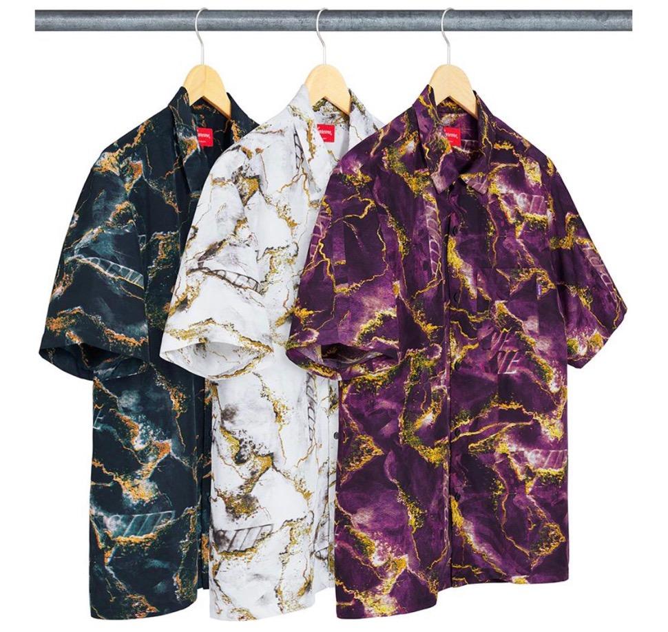 Supreme 2020fw week6 Marble Silk SS Shirt シュプリーム 2020年 秋冬 マーブル シルク シャツ