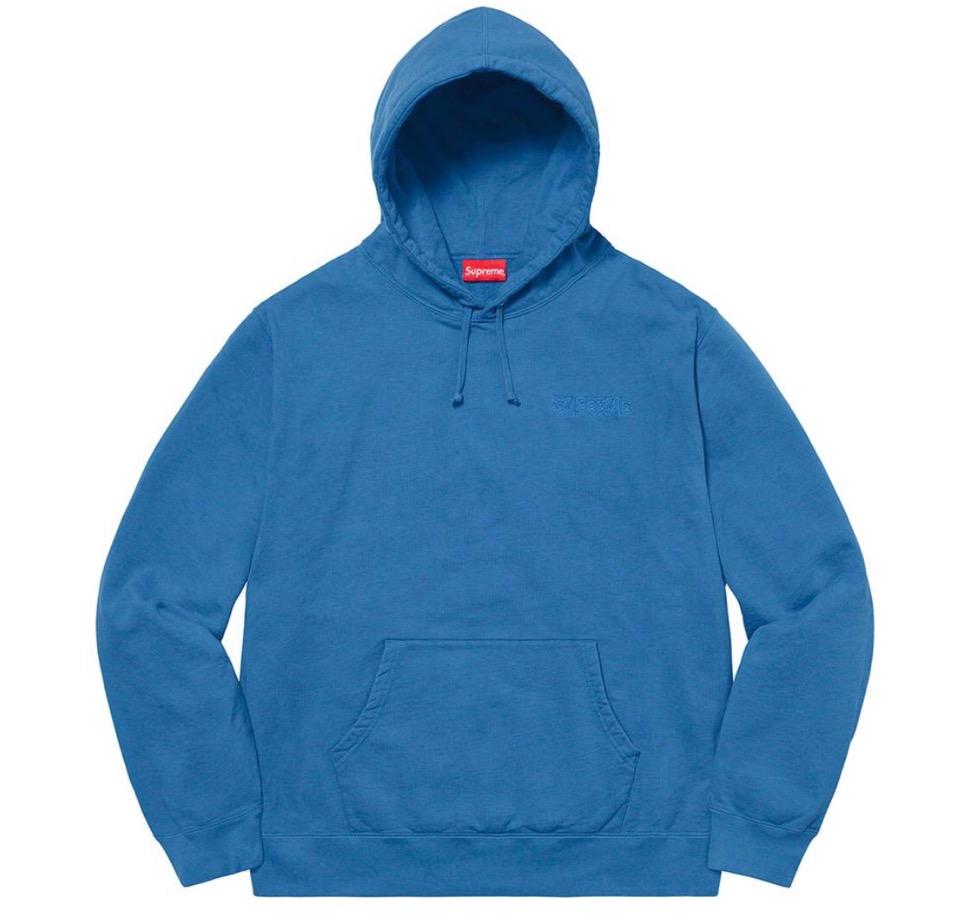 Supreme 2020fw week6 Supreme Smurfs Hooded Sweatshirt シュプリーム 2020年 秋冬 スマーフ スウェットシャツ blue