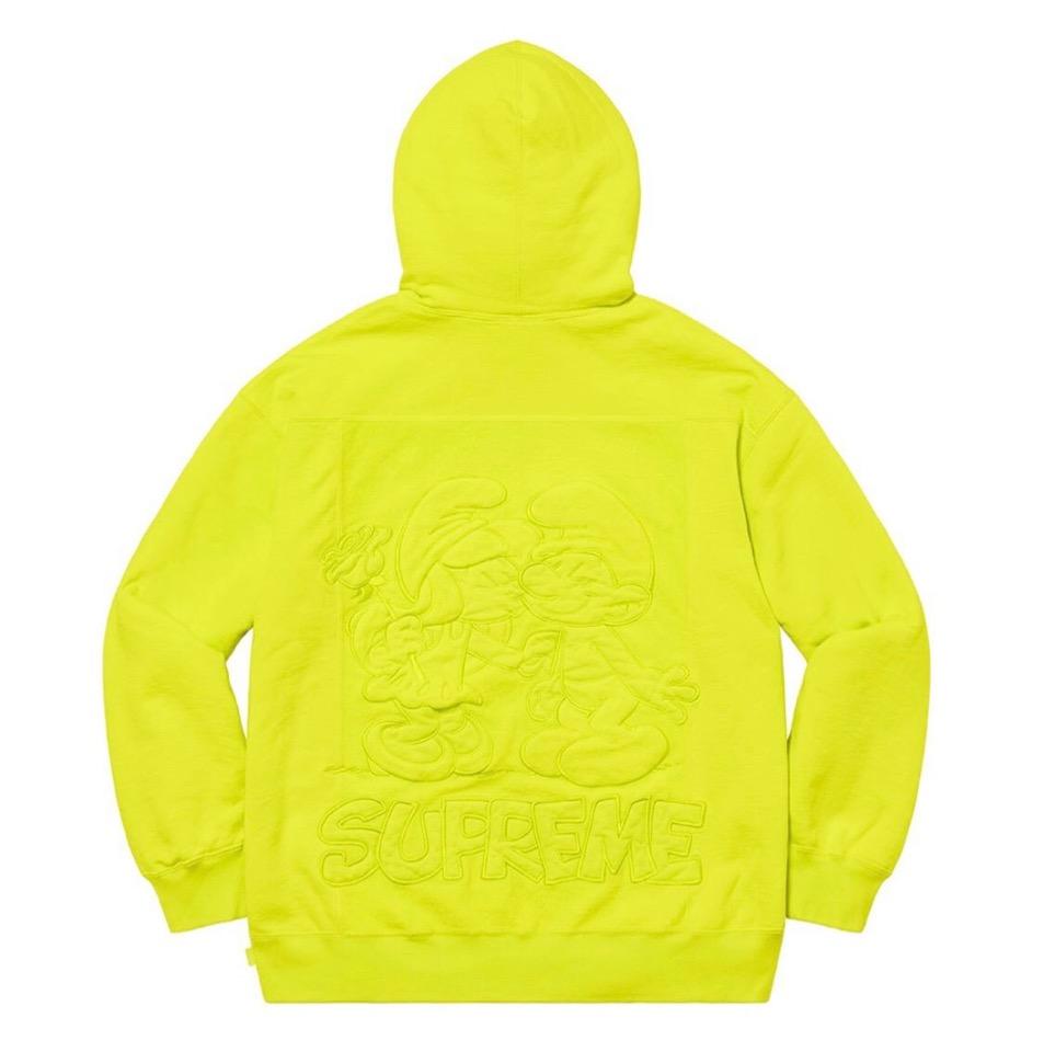 Supreme 2020fw week6 Supreme Smurfs Hooded Sweatshirt シュプリーム 2020年 秋冬 スマーフ スウェットシャツ yellow