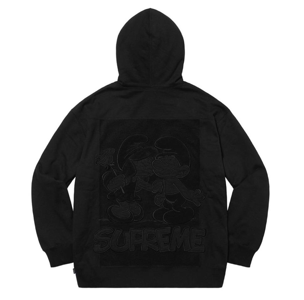 Supreme 2020fw week6 Supreme Smurfs Hooded Sweatshirt シュプリーム 2020年 秋冬 スマーフ スウェットシャツ black